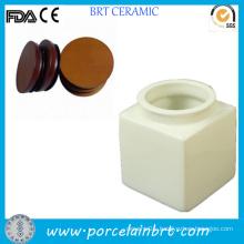 Square White Candle Jars Wholesale