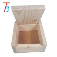 Pequeña caja de joyería de madera pura de color hecho a mano coleccionables regalo de lujo