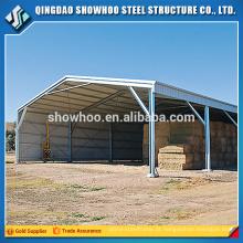 Estrutura de aço pré-fabricada Armazém Building Fireproof Shed