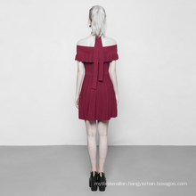 OPM-096 punk rave Ice silk street fashion one shoulder party clothes ruffled woven dresses women