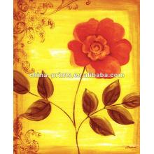 Pintura casera de la flor de la decoración en la lona para la venta