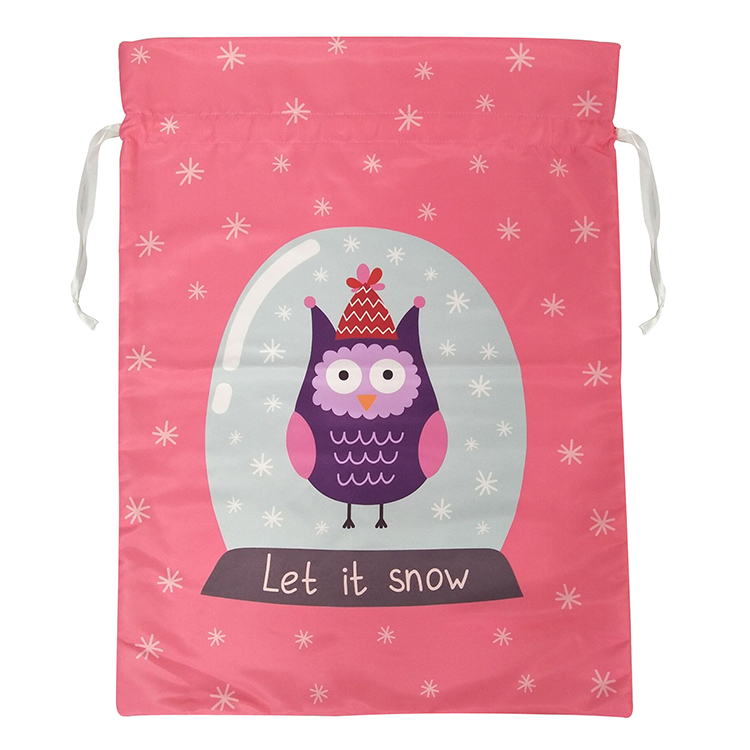 Cute Owl Pattern Christmas Sack