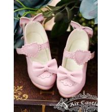 Bjd Girl Shoes Pink Lolita Highheels For SD