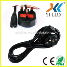 Factory price BS approved Fused UK plug power cord, UK 3 pin plug wire ac power cord with fuse
