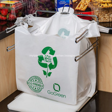 Printed White Transparent Plastic Bag with Handle