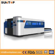 Máquina de corte del laser del acero de carbón de 12m m / 1000W Máquina de corte del laser de la fibra del Ipg de Alemania