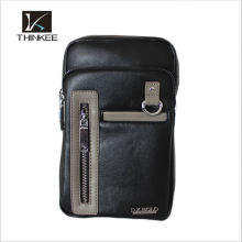 Wholesale Men's leather purse bag made in china shoulder bag chest bag for men