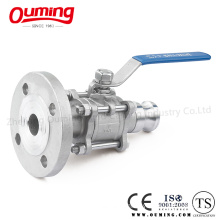Stainless Steel Ball Valve with Flange Quick Coupling (OEM)