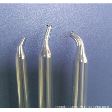 Hand-Made Curved Clear Glass Pipettes