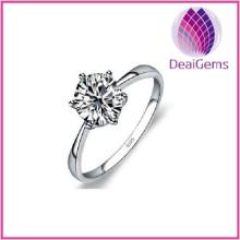 Sterling Silver Simulation Diamond Wedding RIng
