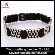 Latest Fashion Elastic & Metal Belt in High Quality for Women