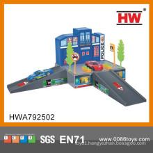 Top quality children indoor toys plastic car garage