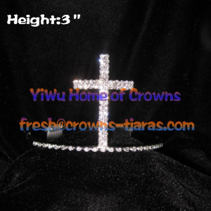 Crystal Cross Shaped Crowns Tiaras
