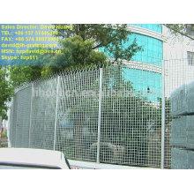 Cerca de acero galvanizado, cerca de rejilla de acero galvanizado, reja de acero galvanizada de la cerca