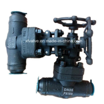 Forged Carbon Steel A105 Butt Welding End Globe Valve