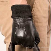 Customized Wholesale Gant en peau de mouton en cuir Fashion Men Gant en cuir peau de mouton