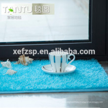 conceptions modernes de cuisine imperméable à l'eau de bain cheveux longs tapis longue pile 100% polyester tapis d'entrée lavable à la machine