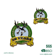 Custom Metal 20 Years Anniversary Enamel Lapel Pin for Gift