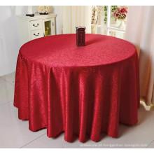 baixo preço 100% poliéster casamento toalha de mesa redonda