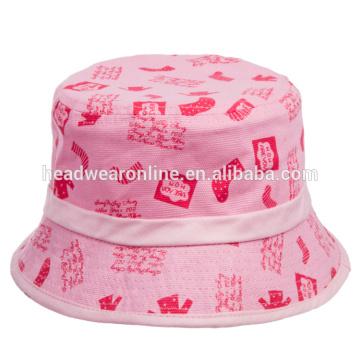 100% algodón inverso sombreros cubo