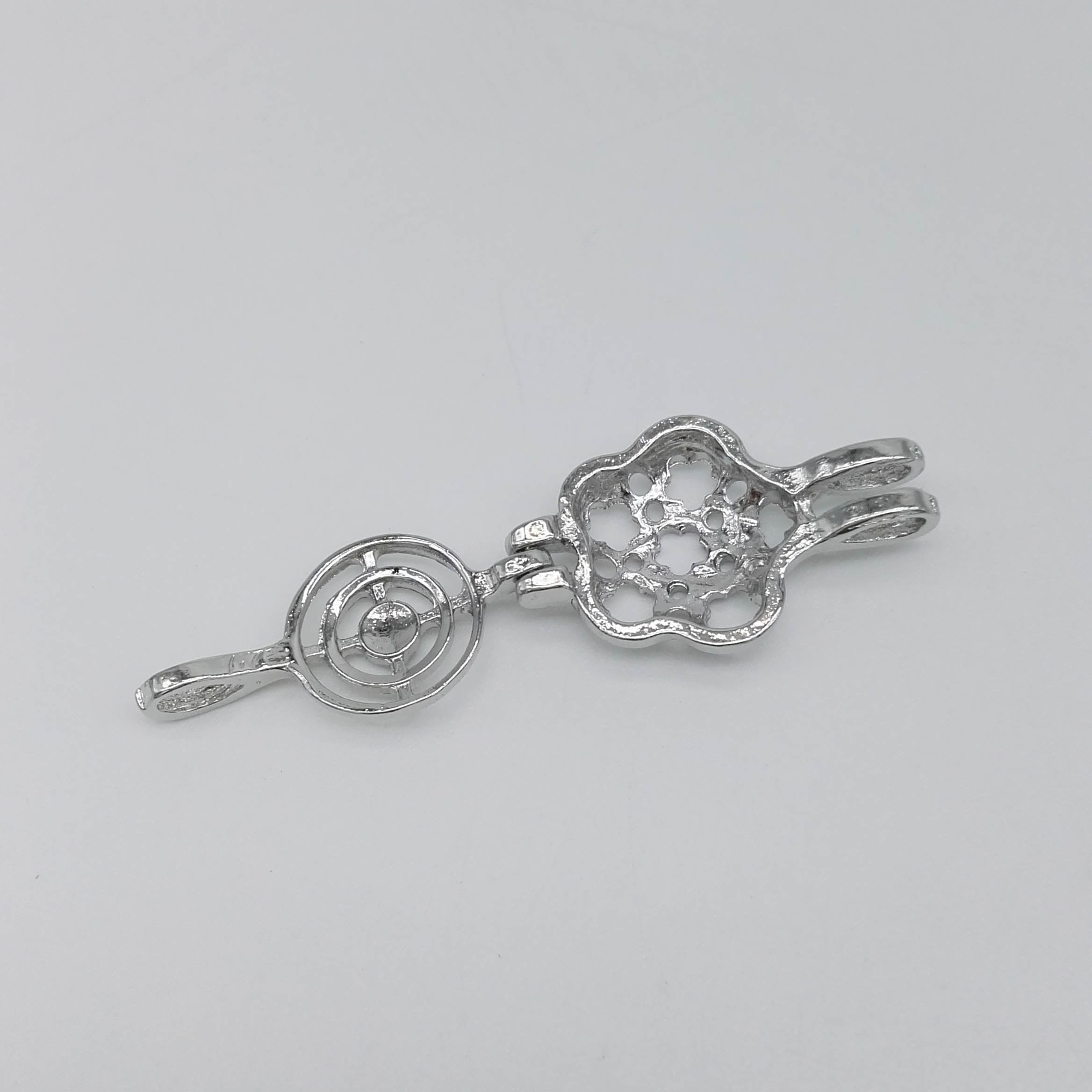 Alloy Flower Cage Pendant