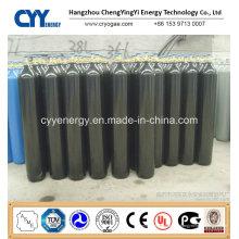 Prix bas 50L à haute pression dioxyde de carbone argon oxygène nitrogène cylindre en acier sans soudure