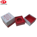 Colorful gift candle box with insert for glass