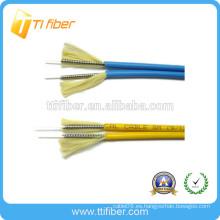 Cable de interconexión de cable de fibra óptica simplex / dúplex de interior