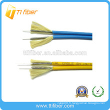 Câble de raccordement à fibre optique simplex / duplex en blindage intérieur