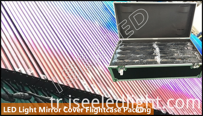 Mirror Led Light Digital Controllable Flightcase Packing
