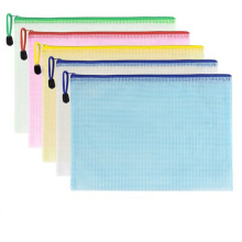 Durable Waterproof Mesh Window PVC Zip File Folder Pouch Document Bag