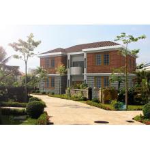 Villa modular pré-fabricada da casa da construção de aço clara
