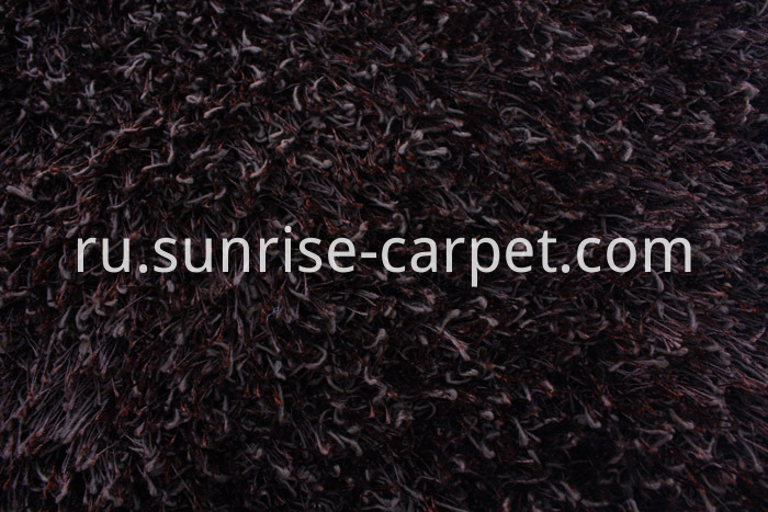 Polyester mix yarn Shaggy Rug Solid color