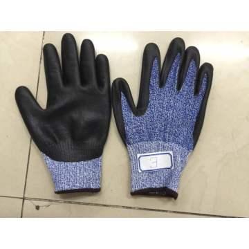 Blue Danima Нитриловые пальмовые покрытия поддельные вспененные перчатки HDPE