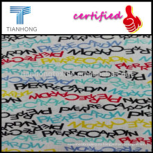 Письмо ткать гребенной хлопок равнина 32s напечатаны пижамы тонкой поплин ткань/реактивной крашения ткани поплин