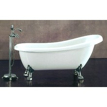 60 Inch Slipper Tub Set with Ball and Claw Feet