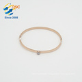 Audit standard size handmade jewelry stainless steel gold cuff bangle bracelet