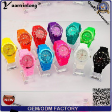 Yxl-349 Silicone Rubber Wristband Watch Wholesale Colorful Jelly Boy Girl Cheapest Kids Ice Quartz Watches