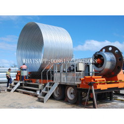Full automatic Corrugated metal culvert pipe making machine