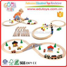 2015 Hot Sale Kids Train Set, Factory Direct Sale Wooden Train Set, Brand New Railroad Train Set