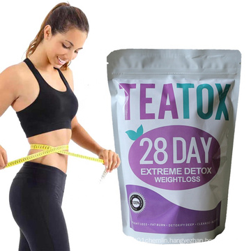 Hot Sell 28 Days Detox Chinese herbal slimming tea 100% safe without side effects private label slimming tea detox