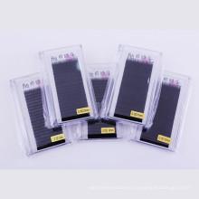 Extensiones de la pestaña material al por mayor de la seda coreana del OEM 0.07 con la etiqueta privada