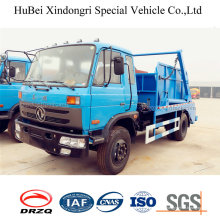 8.5ton Dongfeng hydraulique chargement Euro 4 bras oscillant levage camion à ordures