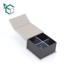 cremefarbene Farbe Phantasie Hirsch Samt Logo Silber Stanzen Anpassung Großhandel Schokolade Trüffel Papier Box