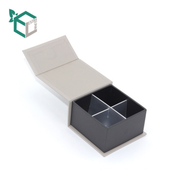creamy white color fancy deer velvet logo silver stamping customization wholesale chocolate truffle paper box