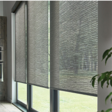 Motorized Window Panel Track Blinds