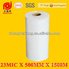 LLDPE -Stretch Wrapping Film, Cast Machine used for Pallet Wrap 500mm x 1500mx23 Micron