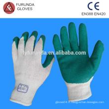 Gant revêtu de latex, anti-saut et gant anti-abrasion