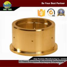 Peças de bronze do CNC que fabricam a parte fazendo à máquina de bronze folheado a níquel do revestimento