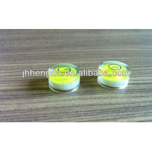 Dia15mm * 8mm, flacon de levle transparent élevé, niveau de bulle de mesure planaire